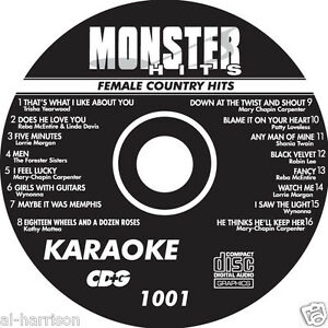 KARAOKE MONSTER HITS CD+G FEMALE COUNTRY #1001