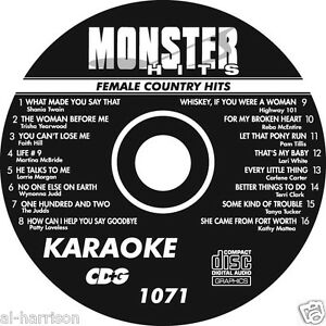 KARAOKE MONSTER HITS CD+G FEMALE COUNTRY HITS #1071