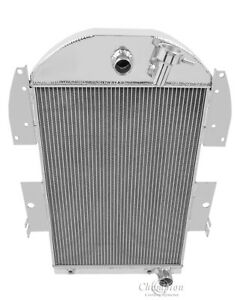 1934-1936 Chevy Truck V8 conversion Polished Aluminum 3 Row Champion Radiator