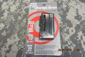 SAVAGE 93 SERIES 22 MAG & 17HMR BLUED 10RD MAGAZINE