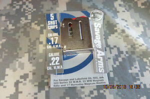 SAVAGE FACTORY 5RD STAINLESS MAGAZINE FITS 93 SERIES 22 MAGNUM & 17HMR RIFLES