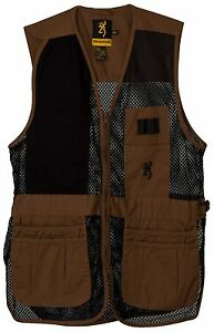 Browning Trapper Creek Mesh Shooting Vest ClayBlack 3050266804 Size - XL