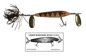 Handmade Musky Fishing Lure - The Bobcat Woody Edition