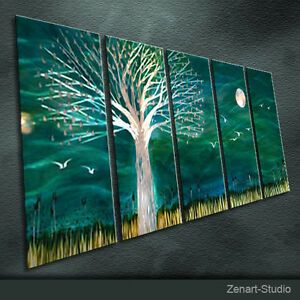 Shinning Metal Wall Art Original Painting Sculpture Indoor Outdoor Decor-Zenart