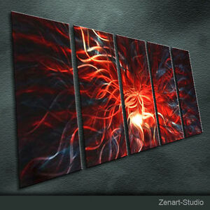 Original Metal Wall Art Shining Painting Sculpture Indoor Outdoor Decor-Zenart