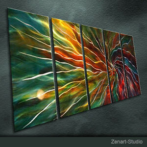 Modern Original Metal Wall Art Abstract Painting Indoor Outdoor Decor-Zenart