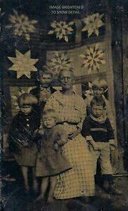 Vintage Antique Photo Grandma Moses Anna Mary Robertson Kids & Folk Art Quilt