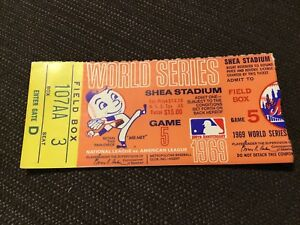 Beautiful CLINCHER NOLAN RYAN TOM Seaver World Series Ticket MIRACLE Mets 1969