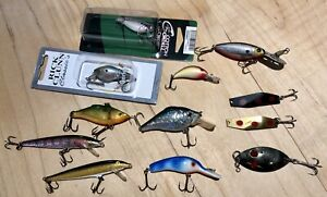 12 Freshwater Fishing Lures Bass Walleye Crappie Great Condition Rapala and More