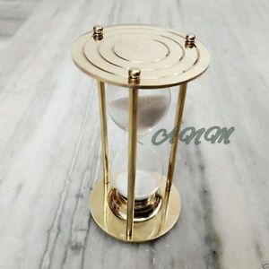 Sand Timer Brass Hourglass Vintage Marine Table Top Decor $32.00