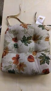 Square Seat cushion WITH Ties for Dining Garden Patio Home/Office Chair NEW