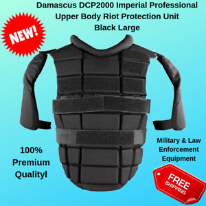 Professional Riot Damascus DCP2000 Upper Body & Shoulder Protection Black Large