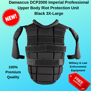 Professional Riot Damascus DCP2000 Upper Body Shoulder Protection Black 3X Large