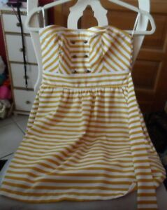 Junior white butterscotch stripe strapless sundress size S P from Forever 21 $12.00