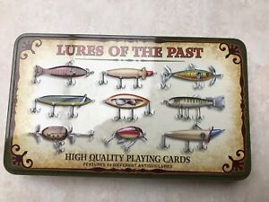 NEW Lures Of The Past High Quality Playing Cards Game Tin Set 54 Different Lures