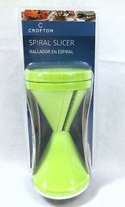 Spiral Vegetable Slicer  by Crofton - Thick and Thin Blades - Handheld! - NIB