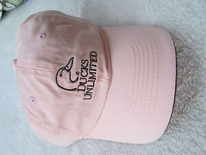 Ducks Unlimited Pink Hunting Baseball Cap Adjustable one size fits most