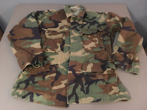 EA Inustries US Military Coat Hot Weather Woodland Camouflage Pattern Combat SM