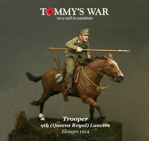 Trooper of 9th Queen's Royal Lancers 54mm 132 Resin Painted Toy Soldier  Art