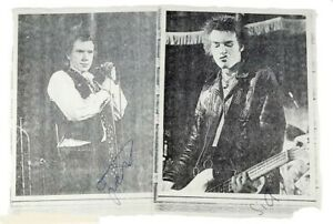 Sex Pistols 1978 Sid Vicious Johnny Rotten US Tour Signed Photos 100% Authentic