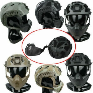 1 Set TMC3217 SFH ABS Hunting SF Helmet with SF Guide Rail Mask ML For Tactical