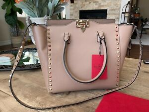 Valentino Rockstud Double Handle Brand New With Tags!  Has Original Dust Cover
