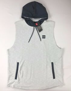 Men's Under Armour Athletic Loose Fit Hooded Sweater Tank Top Size 2XL
