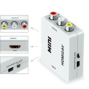 Mini HDMI To AV Adapter Converter with USB Cable