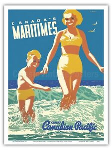 Canada's Maritimes - Canadian Pacific Ewart 1950 Vintage Travel Poster Print