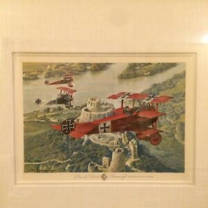 One of a kind Original Water Color Merv Corning Red Baron Manfre
