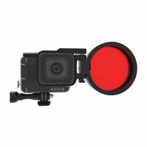 1 Set 24X Close-up Magnifier Macro Red Lens Filter For GoPro Hero7 6 5 Camera