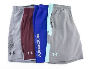 Under Armour Heat Gear Mens XL Loose Fitted Athletic Shorts Lot of 4 Spell Out