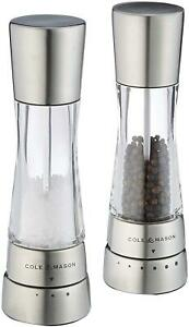 Cole & Mason Gourmet Precision Derwent Salt And Pepper Mill Gift Set, Stainless