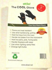 ekSel COOL Cooking Baking BBQ Oven Grill Gloves Pan Holders Heat Resistant..