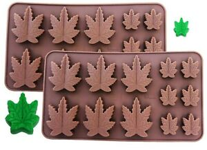 2 Pack Silicone Marijuana Lollipop Gummy Brownies Had Candy Cannabis Weed MOLD