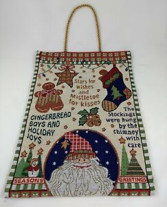 Christmas Seasons Greetings Woven Tapestry Wall Hanging Decoration
