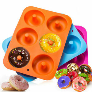 3 pack 6-Cavity Non-Stick Silicone Cake Baking Pan Donut Mold