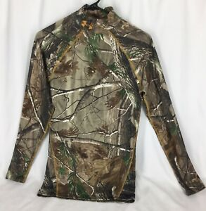 Under Armour Cold Gear Real Tree Camo Top Youth S 190409LSGBGB