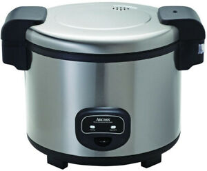 AROMA Commercial 60-Cup Rice Cooker Electronic Operation Stainless Steel Finish