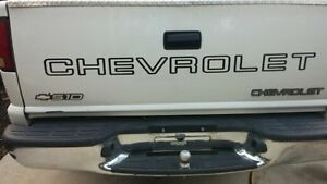 CHEVROLET Tailgate Decal Sized for Chevy S10 Truck. BLACK