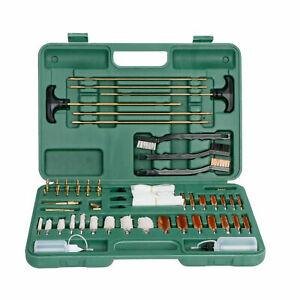163PCS Gun Cleaning Kit w Pro Plastic Jags and Patch Holders Aluminum Adapters