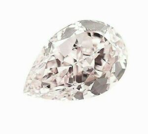 Fancy Light Orangy Pink Natural Loose Diamond 1.72 Cts Pear Color GIA IF