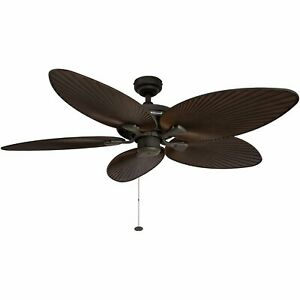 Honeywell Palm Island 52-Inch Tropical Ceiling Fan Five Palm Leaf Blades Indoo