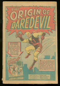 Dardevil #1 coverless but complete origin and first appearance of Matt Murdock