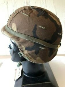 ~US MILITARY PASGT BALLISTIC HELMET MED WOODLAND COVER CHINSTRAP HEADBAND CATEYE