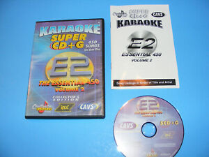 KARAOKE CAVS SUPER CD+G 450 SONGS Collector's Edition E2 CHARTBUSTER ESSENTIALS