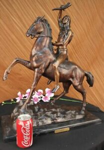 The Scalp European Bronze Sculpture Figurine by Frederic Remington Finest USA