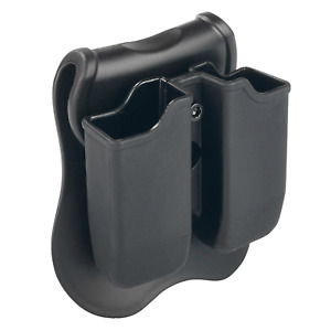 Black Double Magazine Pouch/Case/Holder for Glock 17/19/22/23/26/27 (9mm/40 Mag)