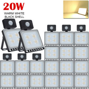 20X 20W Warm White PIR Motion Sensor LED Flood Light Outdoor Garden Floodlight