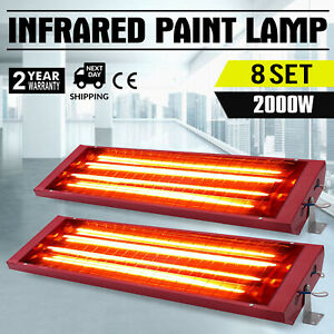 Pop 8x2000W 110V Spray Baking Booth Infrared Paint Curing Heater Lamp Top1